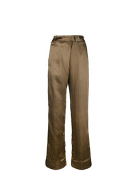 Pantalones anchos verde oliva de Ann Demeulemeester