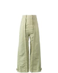 Pantalones anchos verde oliva de Chloé