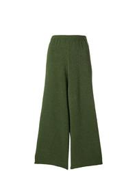 Pantalones anchos verde oliva de Christian Wijnants