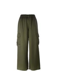 Pantalones anchos verde oliva de Comme Des Garçons Vintage