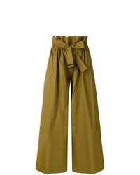 Pantalones anchos verde oliva de Erika Cavallini