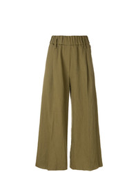 Pantalones anchos verde oliva de Forte Forte