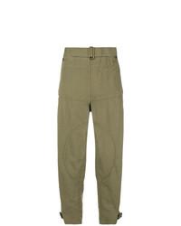 Pantalones anchos verde oliva de JW Anderson