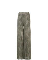 Pantalones anchos verde oliva de M Missoni