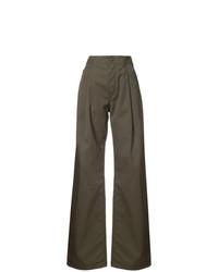 Pantalones anchos verde oliva de Maison Margiela