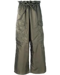 Pantalones anchos verde oliva de MM6 MAISON MARGIELA