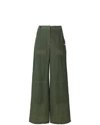 Pantalones anchos verde oliva de Off-White