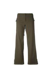 Pantalones anchos verde oliva de Romeo Gigli Vintage