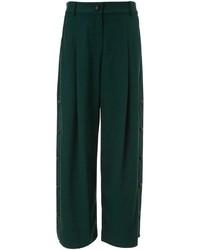 Pantalones anchos verde oscuro