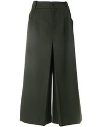 Pantalones anchos verde oscuro de Chloé