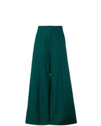 Pantalones anchos verde oscuro de Lemaire