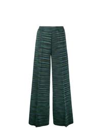 Pantalones anchos verde oscuro de M Missoni