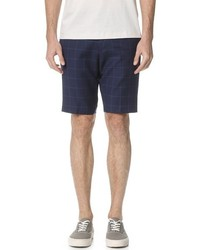Pantalones cortos a cuadros azul marino