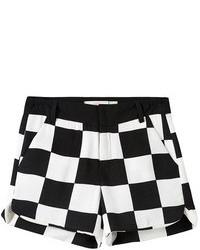 Pantalones cortos a cuadros en negro y blanco