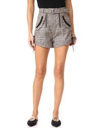 Pantalones cortos a cuadros grises