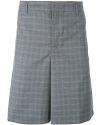 Pantalones cortos a cuadros grises de Golden Goose Deluxe Brand
