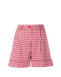 Pantalones cortos a cuadros rojos de P.A.R.O.S.H.