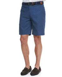 Pantalones cortos a lunares azul marino