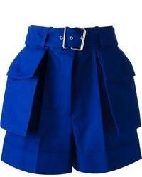 Pantalones cortos azules de Alexander McQueen