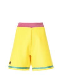 Pantalones cortos bordados en amarillo verdoso de Marni