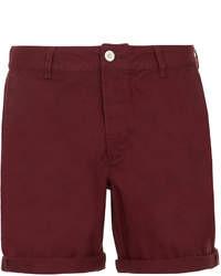 Pantalones Cortos Burdeos