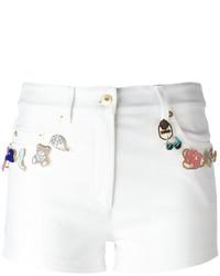 Pantalones Cortos con Adornos Blancos de Moschino