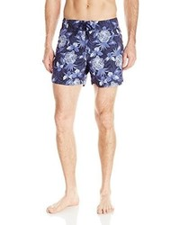 Pantalones cortos con print de flores azul marino de Sauvage