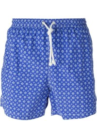 Pantalones cortos con print de flores azules de Kiton