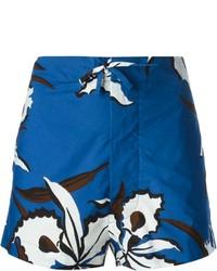 Pantalones cortos con print de flores azules de Marni