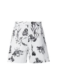 Pantalones cortos con print de flores blancos de Andrea Marques