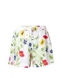 Pantalones cortos con print de flores blancos de Blugirl