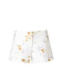 Pantalones cortos con print de flores blancos de Giambattista Valli