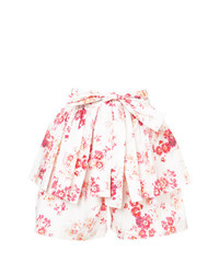 Pantalones cortos con print de flores blancos de Jill Stuart