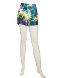Pantalones cortos con print de flores en multicolor