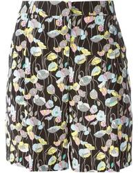 Pantalones cortos con print de flores negros de Iceberg