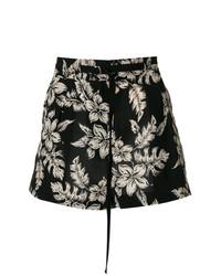 Pantalones cortos con print de flores negros de Moncler