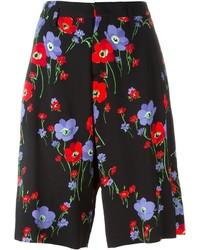 Pantalones cortos con print de flores negros de No.21