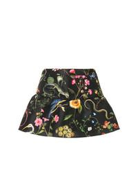 Pantalones cortos con print de flores negros de RED Valentino