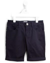 Pantalones cortos de algodón azul marino de Armani Junior