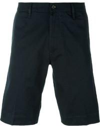 Pantalones cortos de algodón azul marino de Diesel