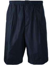 Pantalones cortos de algodón azul marino de Marni