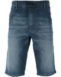 Pantalones cortos de algodón azules de Diesel