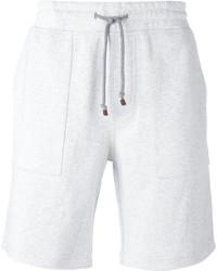Pantalones cortos de algodón blancos de Brunello Cucinelli