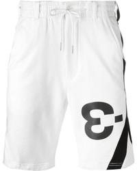 Pantalones cortos de algodón blancos de Y-3