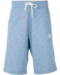 Pantalones cortos de algodón celestes de Nike