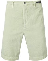 Pantalones Cortos de Algodón en Verde Menta de Pt01