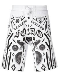 Pantalones cortos de algodón estampados blancos de Marcelo Burlon County of Milan