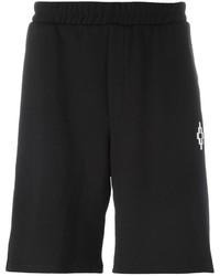 Pantalones cortos de algodón estampados negros de Marcelo Burlon County of Milan