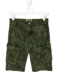 Pantalones cortos de algodón estampados verde oliva de Vingino