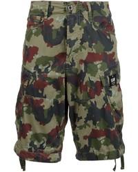 Pantalones cortos de algodón estampados verde oscuro de G Star